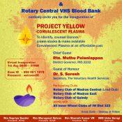 Project Yellow – Convalescent Plasma for COVID-19